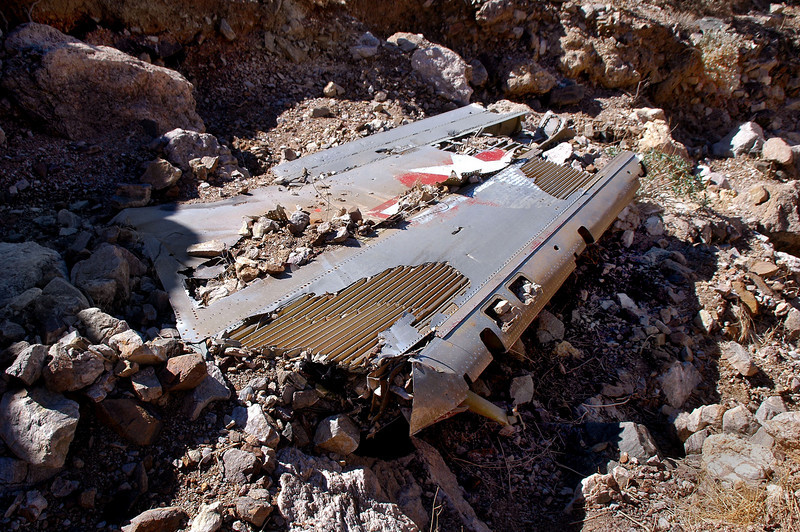The wing was the only piece of wreckage here, not even one other tiny piece was around.