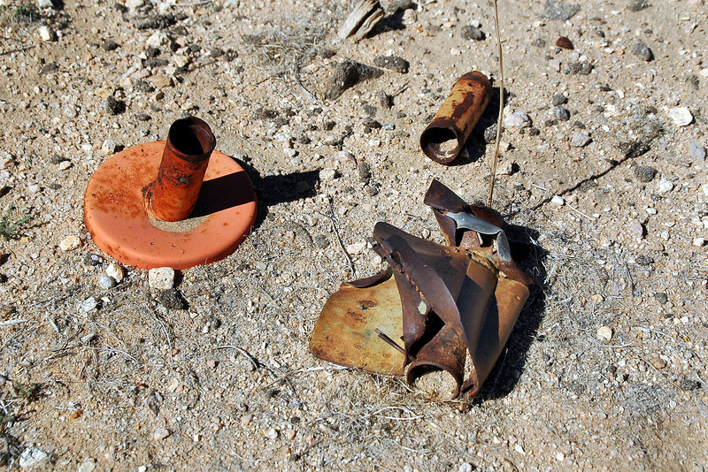 Pieces from MK-106 bomb.