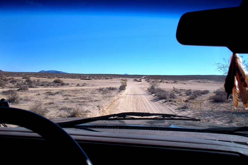 Driving in on Cuddeback Road off Hwy 395.