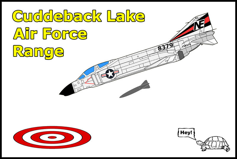 I got a email from Terry (NVWarbirds) telling me about the Cuddeback Air Force Range. In 1967 he put in some time there while serving in the California Air National Guard. Sounded like it could be a interesting place so decided to check it out. <br /> <br /> Cuddeback was established in the 1940's as a artillery range by the US Army. Sometime during the 1950's the Air Force acquired the Cuddeback Range and used it as a temporary landing site for training. In June 1963, the range was converted to Cuddeback Lake Air Force Range. This range was used until 1983 by all services for pilot training and dropping various types of practice ordnance on a total of seven targets constructed within the site.