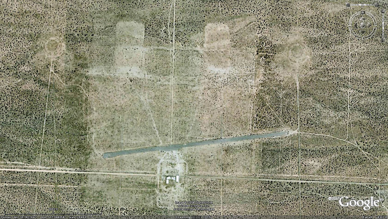 Closer view of the airstrip. Did most of my searching at the target area above the east end of the runway.