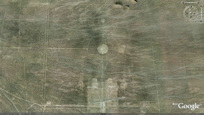 This Google Earth view showing most of range with the airstrip at the bottom.