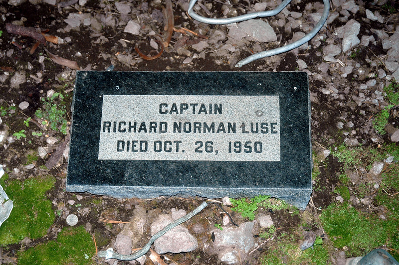 The memorial was for the co-pilot. It has him as a Captain, but the crash report stated that Richard Luse was a 1st Lieutenant. Found out later that he was  posthumous promoted to Captain.