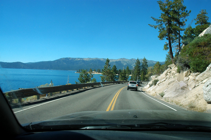 Passing by Lake Tahoe after driving for eight and a half hours. It's been awhile since I've done this long of a drive.