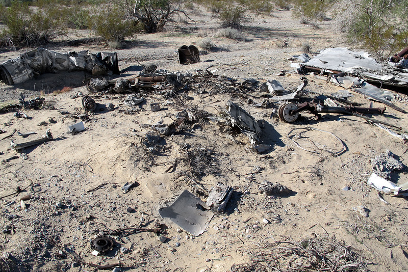 This looks like the spot the Skyhawk burned. Most of the pieces look like they were damaged more from fire than the impact.