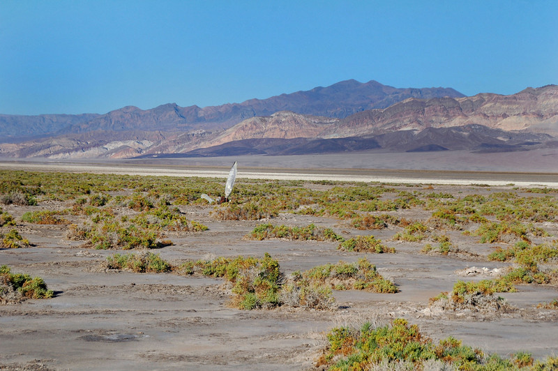 After hiking across the salt flat for awhile, I could see what I spotted was another prop.