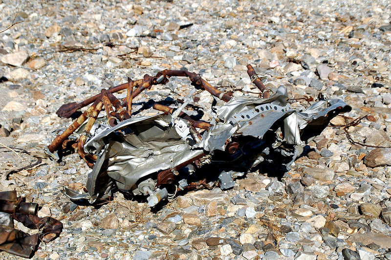 After searching for awhile spotted the first piece of wreckage from the B-24J.