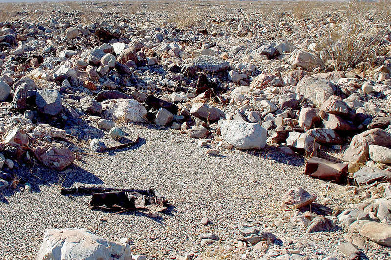 """Close by was the main crash site of #42-78522. Per the report, this was the """"Fuselage aft of approximately station 4.0, the wing center setion, engines and the right outer wing panel."""""""