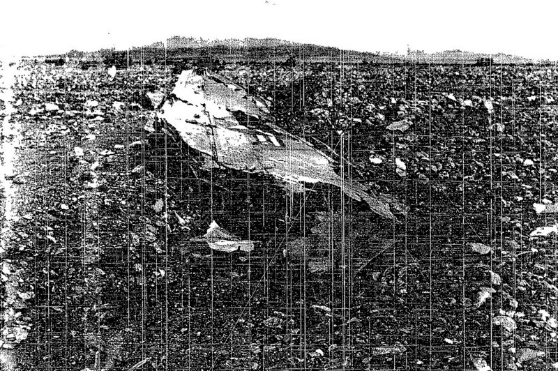 One of the photos from the crash report that helped us find the site.