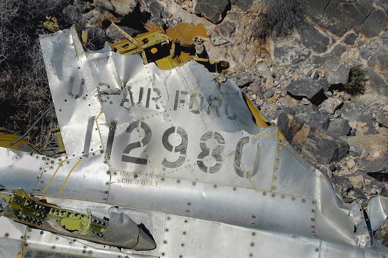 Closer look at the serial number and the damage to the fin.