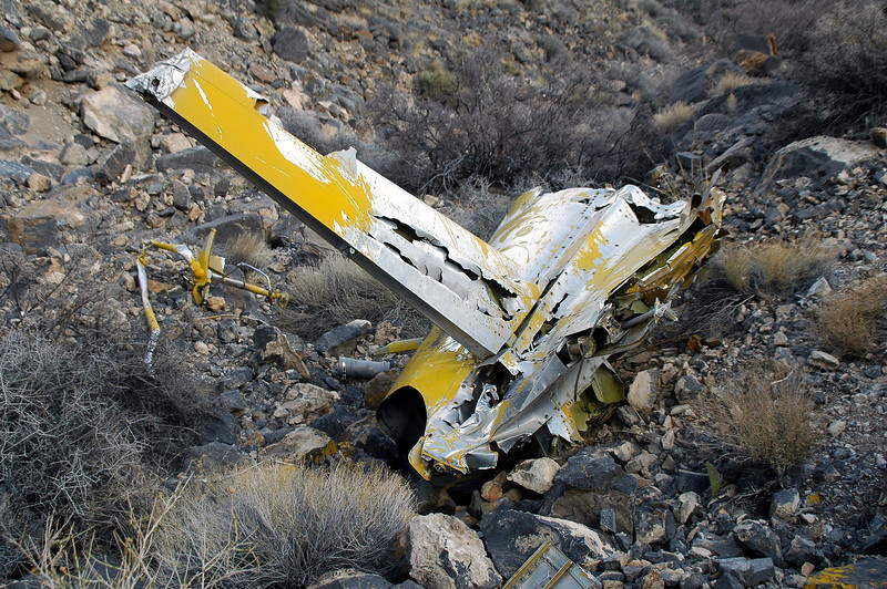 Another view shows some of the other wreckage in the area.