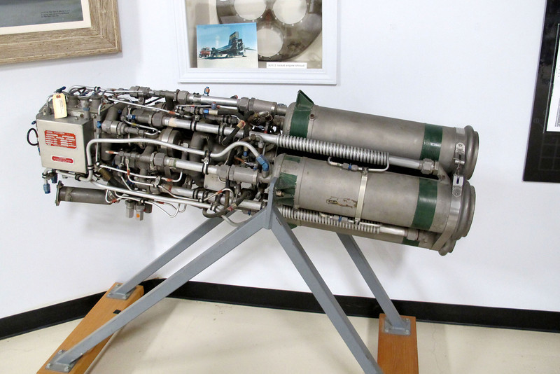 A Reaction Motors XLR11 rocket engine. The X-15 program used two of these engines per plane for the first 30 flights. Each engine put out 5,900 pounds of thrust.