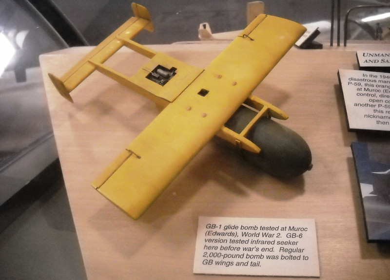 The Edwards Flight Test Museum that we visited earlier in the day had a model of the GB-1 glide bomb.<br /> <br /> Photo provided by Dave Trojan.