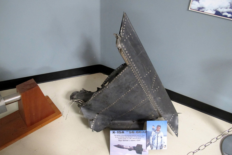 This is a piece of the horizontal stabilizer from the third X-15A #66672 recovered by the X-Hunters. The accident happened on 11/15/67 killing the pilot Maj. Michael J. Adams.