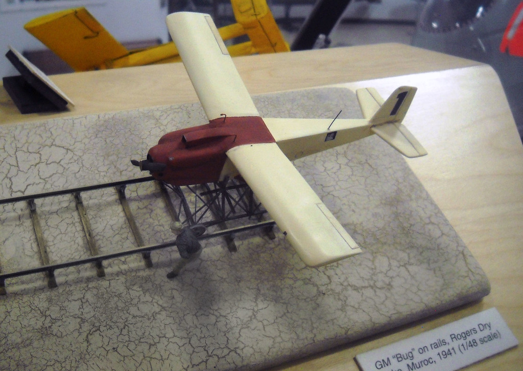 The Edwards Flight Test Museum that we visited earlier in the day had a model of the GM-A1 Bug.<br /> <br /> Photo provided by Dave Trojan.