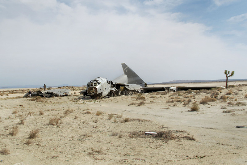 Nearby was the another one. This is what remains of the B-52E #57-0119, it's in five large pieces.