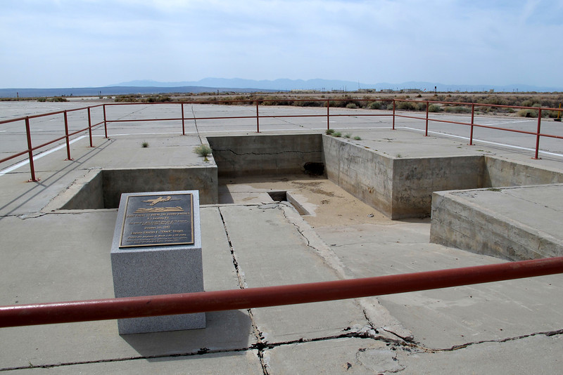 Next we went to see the pit that was used to load the Bell X-1 under it's B-29 bomber launch aircraft on 10/14/47, the day that  Captain Chuck Yeager broke the sound barrier. The X-1 was backed down into the pit, then the modified B-29 was roll over the X-1.