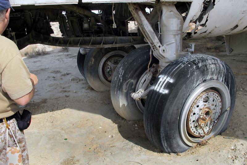 Front set of landing gear.