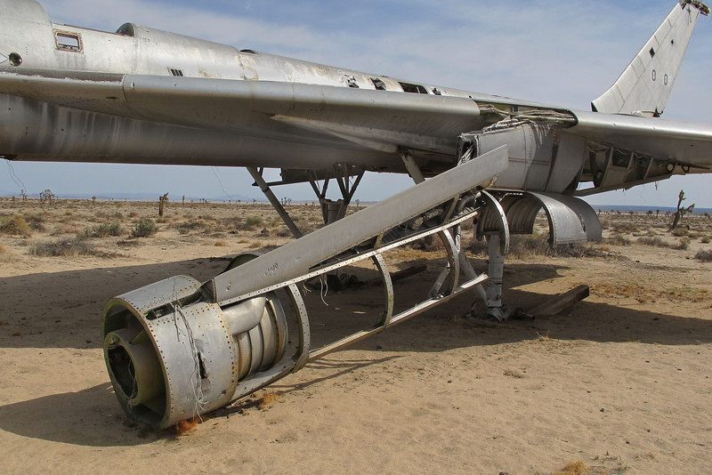 The only engine nacelle that remains on the bomber.