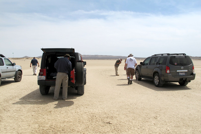 Here we are on a lakebed to look for the site of the Aurora Flight Sciences Theseus RPRV that crashed on 11/12/96.