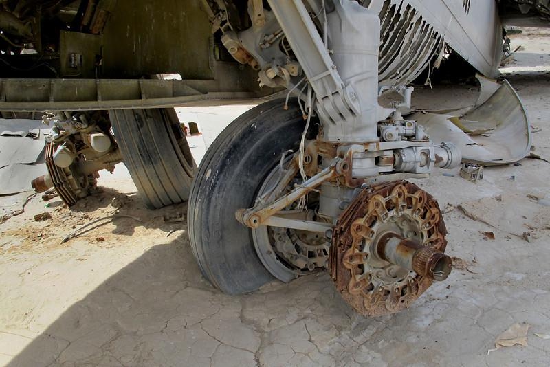 Rear set of landing gear.