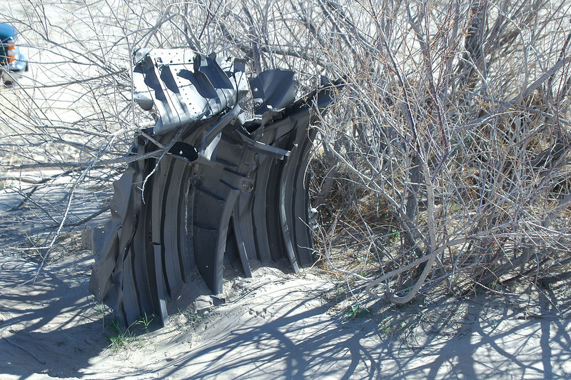 Turned out to be a piece of aircaft wreckage.