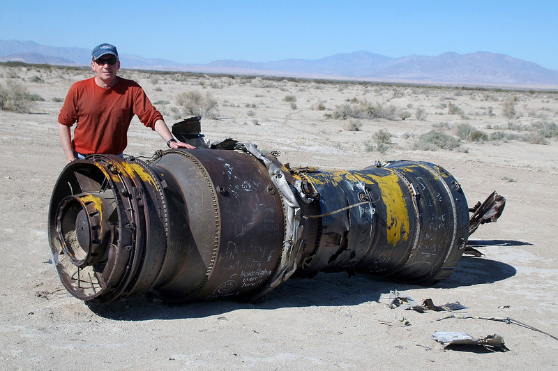 Me with the Pratt & Whitney J57-P-16 engine.