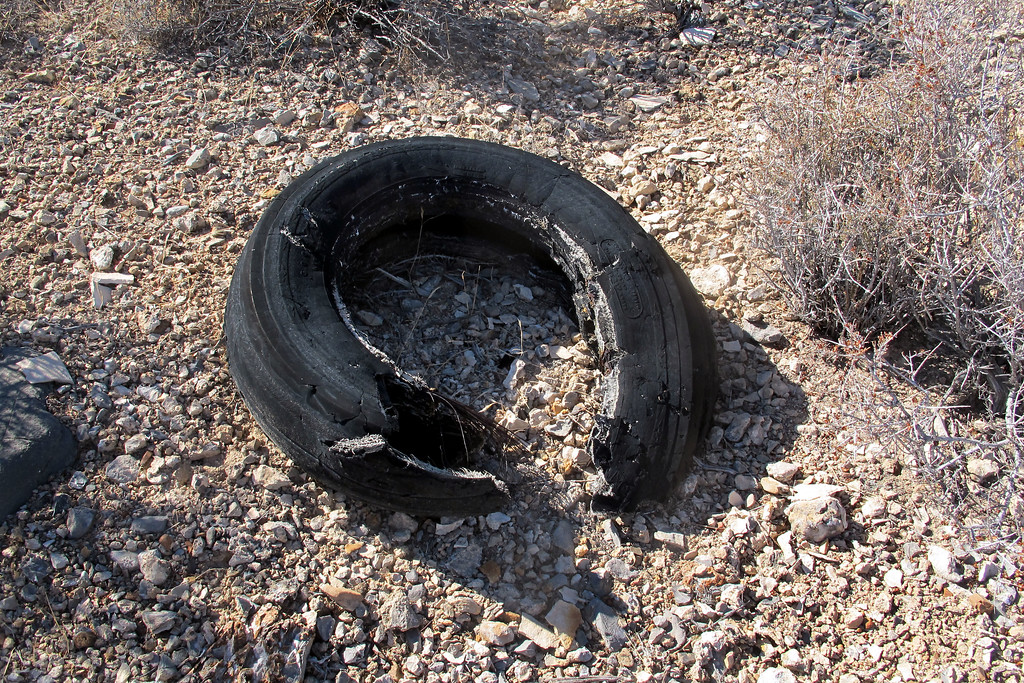 One of the tires.
