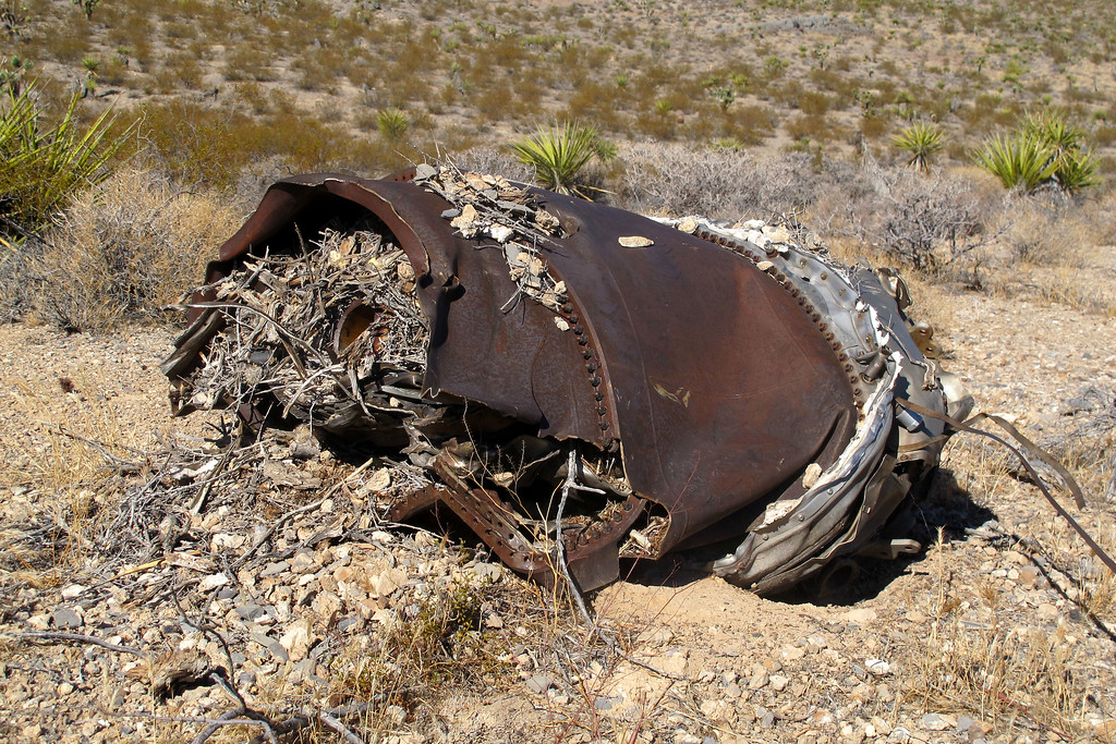 This piece from the engine was furthest piece of wreckage at the site. It's about a quarter mile from the impact carter.