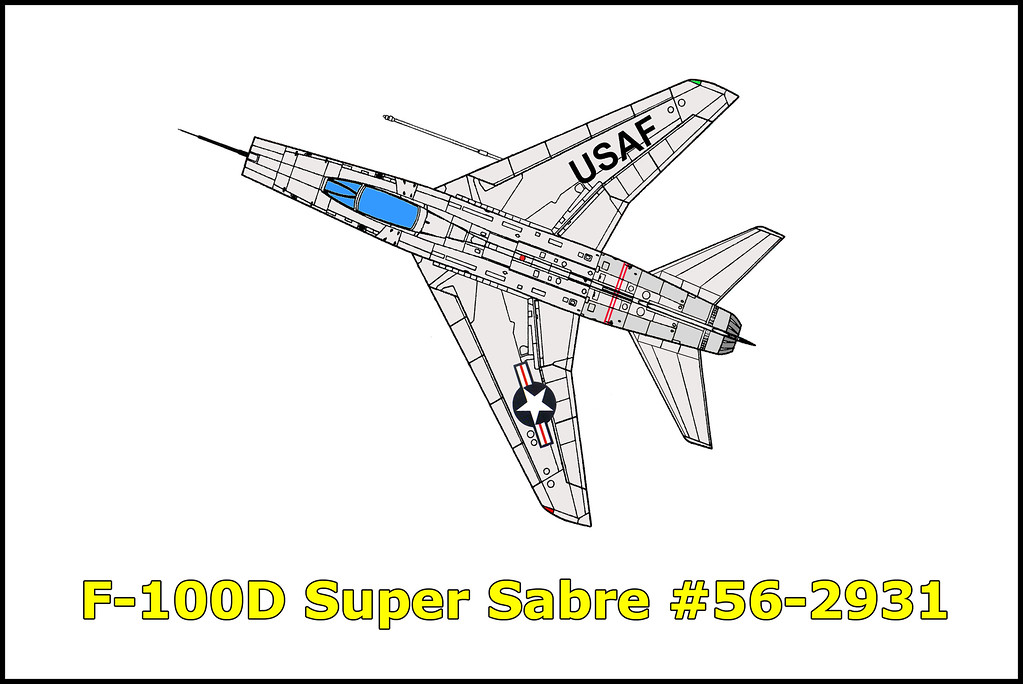 On 6/1/60 the F-100D Super Sabre #56-2931 piloted by Captain John R. Boyd was on a flight out of Nellis AFB, Nevada. During the flight the aircraft lost hydraulic pressure causing Captain Boyd to lose control of the aircraft. He was able to eject safely with the aircraft crashing in the desert north of Nellis AFB.