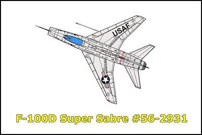 F-100D Super Sabre #56-2931 11/9/16