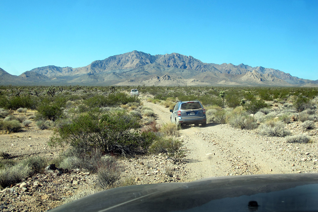 On the drive to the start of the hike. We approached from the east which required a long drive on dirt roads.