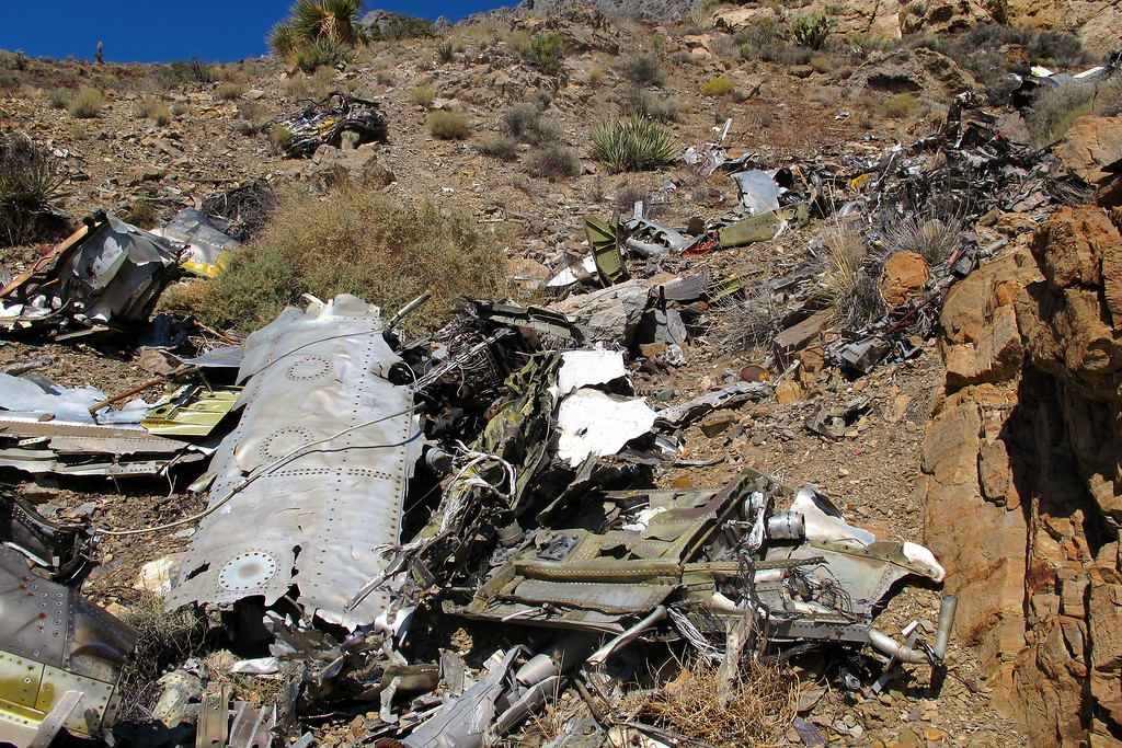 Most of the wreckage in this area looks like it's from the fuselage.