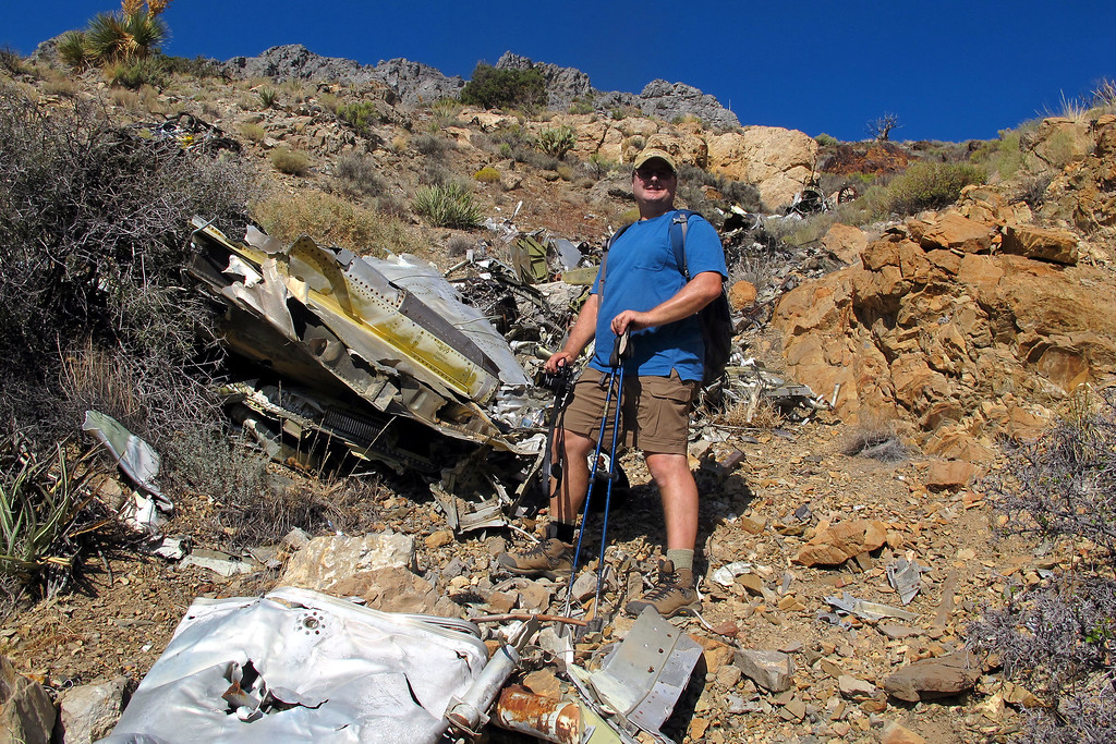 Craig near the center of the debris field. Craig organized the visit to this site and two others that I went on.