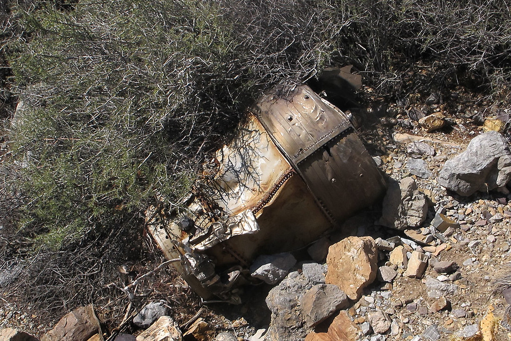 Nearby was the combustion chamber section of one of the engines.