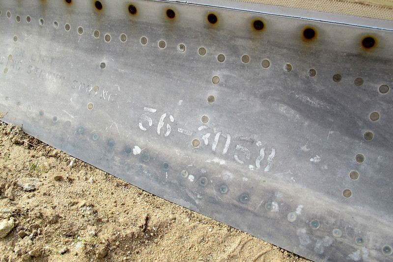 The plane's serial number, 56-3058.