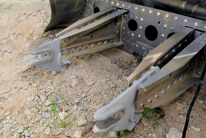 The rear attachment points.