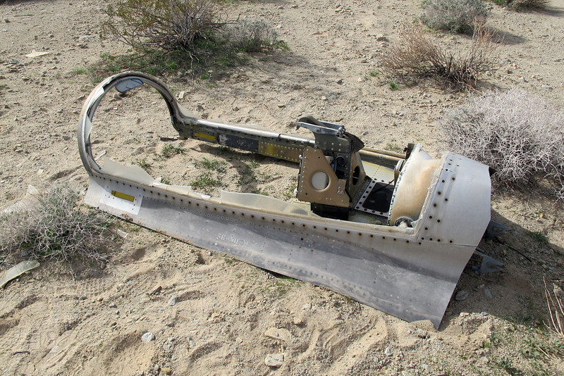 The canopy from Capt. Weiland's F-100D was over a mile from the crash site.