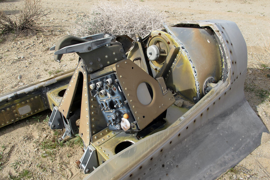 View from the front shows the dump valve in the rear cockpit area.
