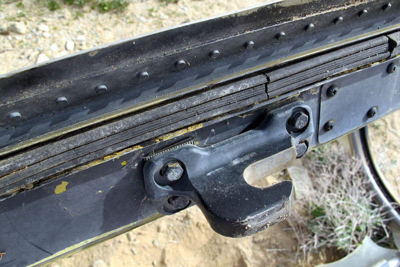 Close up of one of the latches and the inflatable seal.