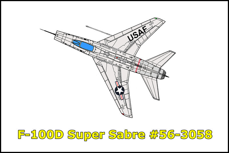 On 2/13/61, four F-100s on a flight from Cannon AFB, New Mexico while approaching George AFB were given bad DF steers and were vectored 180 degrees in the wrong direction. After finding themselves in mountains, the flight broke up. Two made it back to George AFB, another one had its nose gear collapse after landing on Bicycle Dry Lake. The fourth, F-100D #56-3058 crashed and was totally destroyed after its engine flamed out from lack of fuel. The pilot, Capt. Gerald R Weiland was able ejected safely.