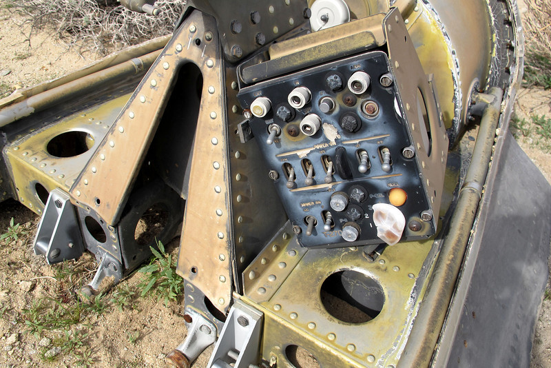 This In-Flight Control Tester Panel was mounted on the canopy. I've checked some F-100D cockpit photos and can see  the same unit mounted in the center console. For some reason this one is mounted on the canopy.