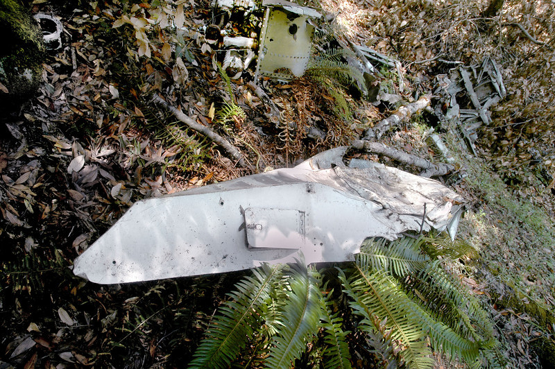 This is a piece of the right wing fairing. The bottom side would be up against the fuselage with the tailing edge sweeping forward.