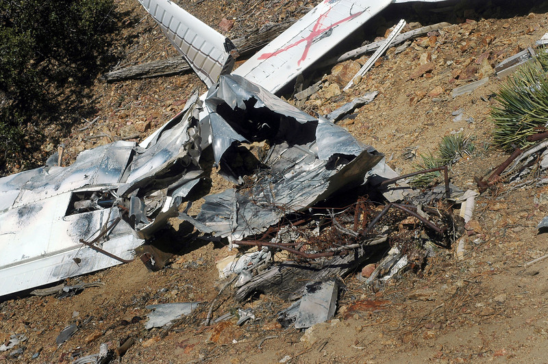 The fuselage was badly damaged by the post crash fire.