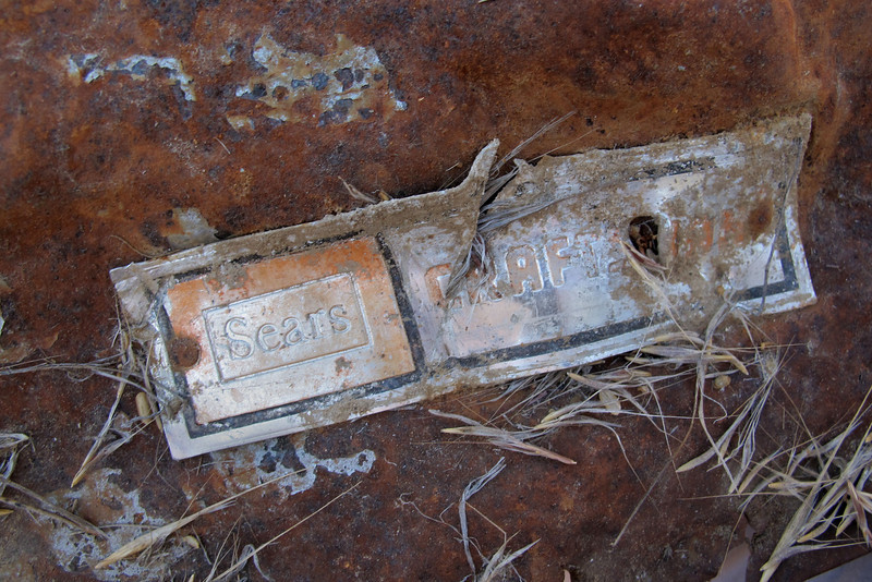 Taking a look at the tag, would see that it was a Craftsman tool box that must have been on the airplane.