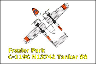 Frazier Park C-119C N13742 Tanker 88 7/7/13