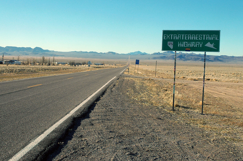 It took about six hours of driving to reach Rachel, Nevada. It's claim to fame is that the town is near Area 51 and the whole UFO thing.