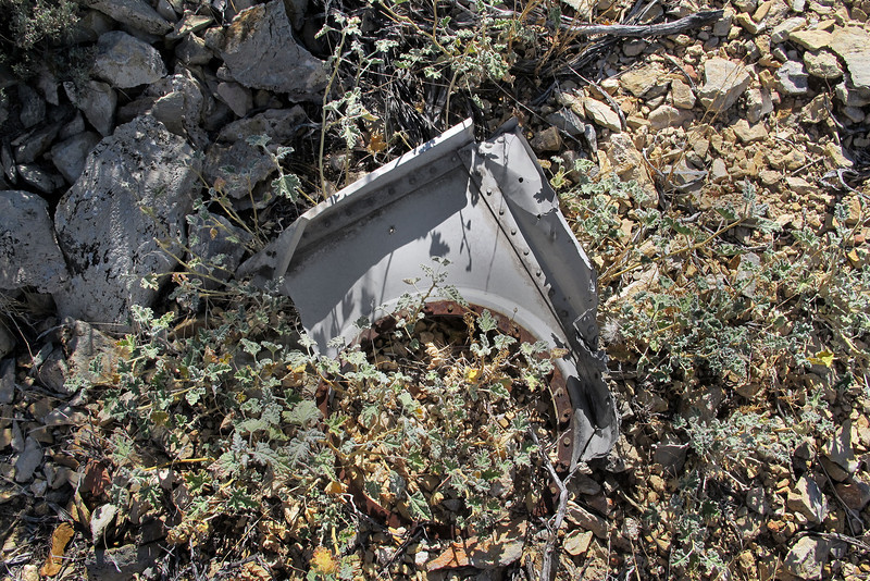 This is the first piece of wreckage I came upon as I approached the crash site.