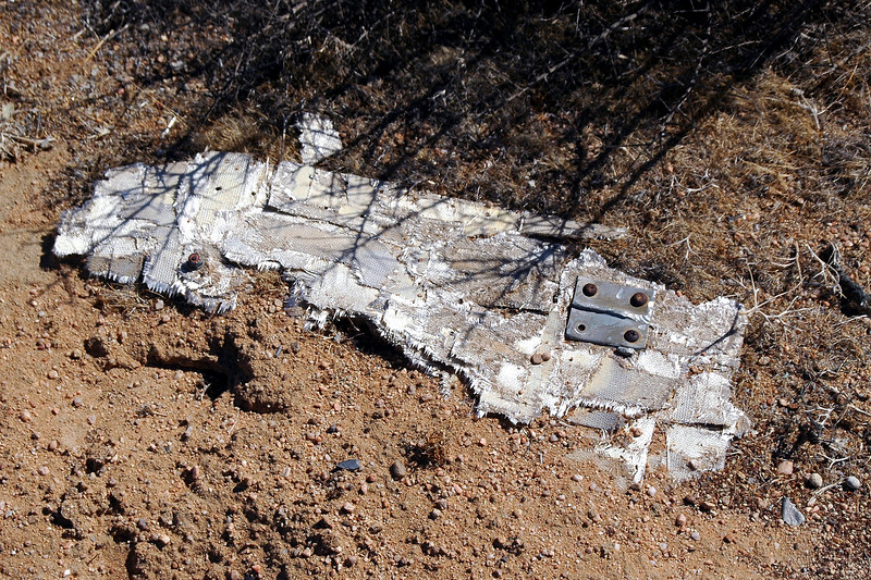 This two foot long piece of fiberglass was the largest piece of wreckage at the site.