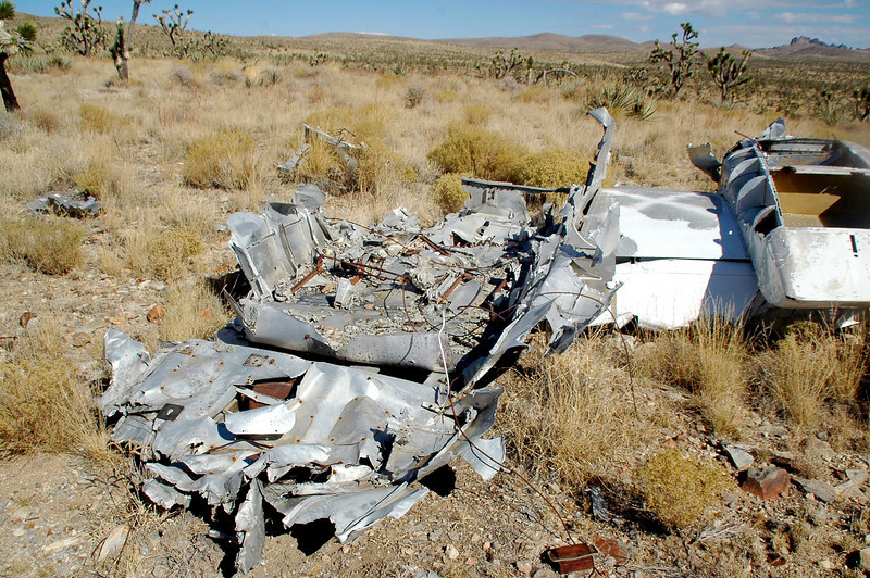 The remains of the fuselage.